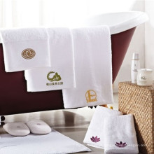 bordado algodão branco spa logo premium toalha