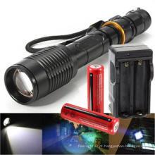Rechargeable Tático T6 LED Lanterna Torch + 18650 Bateria & Carregador