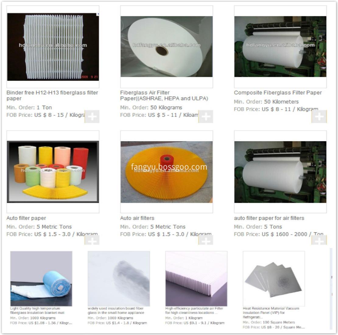 Glas S Microfiber Liquid Filter Media