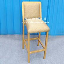 Comfortable Seat Cushion Gold Bar Stool Chair (YC-H004)