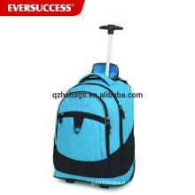 Chine usine en gros à dos sac à dos chariot à roulettes avec des roues pour adolescent, sac à dos roulant (ESV245)