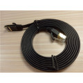 Cable de red de cable Ethernet plano negro Cat7 de 30 pies