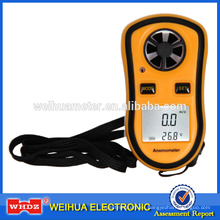 Anemómetro de mano digital DA8908 con temperatura