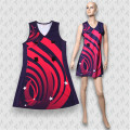Пользовательские сублимации женщин платье Оптовая нетбола трикотажные изделия