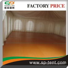 2015 wooden floor 100 people tent 12mX12m event tent with luxury lining