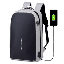 custom big capacity travel waterproof sport school bagpack anti theft usb charging laptop backpack