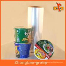Cheap Transparent POF Heat Shrink Film For Snack Noodles / Dinnerware