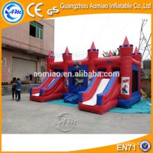 CE certificated outdoor combo inflável saltando castelo bouncer para crianças / adultos
