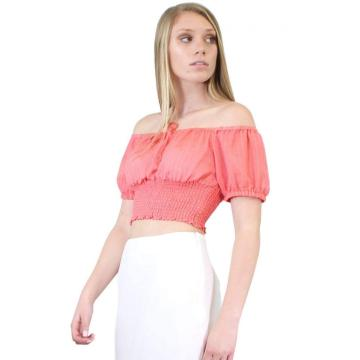 Puffy Sleeve Crop Top