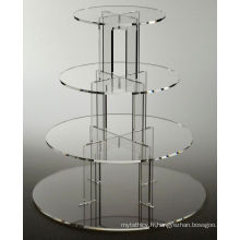 Square Acrylic Cupcake Stand Tower Tour de mariage Stand Cupcake Display