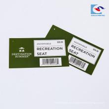 Buen precio etiquetas personalizadas de productos de supermercado con logotipo de marca