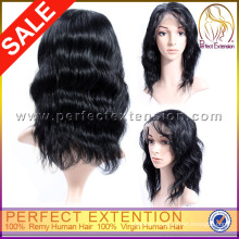 12 Inch 100%Human Body Wave Fishnet European Hair Lace Front Wig