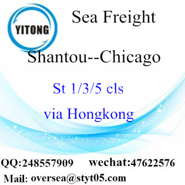 Port de Shantou LCL Consolidation à Chicago