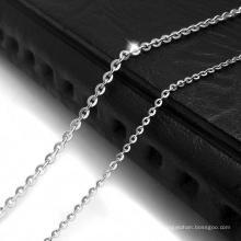 Accessoires de mode collier chaîne en acier inoxydable 316L couleur argent