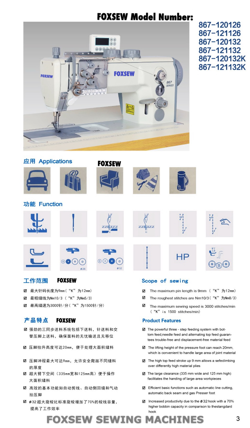 FOXSEW FX-867 Series Page -3