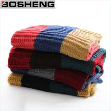 Hombres de moda de invierno para hombres cálida bufanda de punto suave