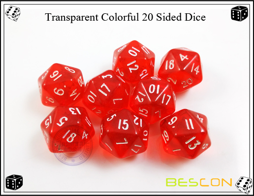 Transparent Colorful 20 Sided Dice-2
