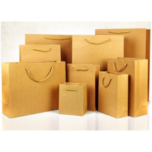 Kraft Paper Bag with Hand Length Handle.