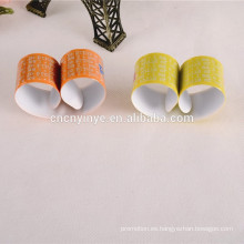 Banda reflectante de encargo de la palmada de PVC fluorescente