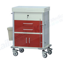 Stainless Steel Emergency Medical Trolley Hospital