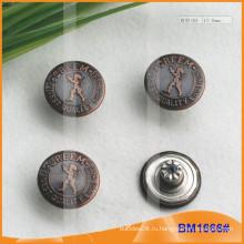 Металлическая пуговица, Пользовательские кнопки Jean BM1666