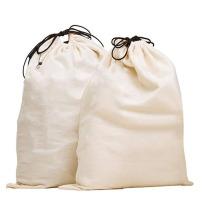 wholesale customizedized printed logo white canvas laundry bag cotton washing drawstring laundry bags