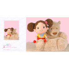 Детская плюшевая медвежья подушка