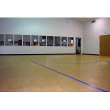 Revêtement de sol en PVC pour les cours de basketball