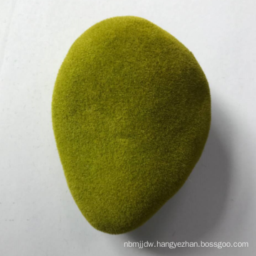 hot selling different shap artificial moss stone grass flocking stone