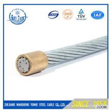 Alambre de acero galvanizado Stranded OH (ACSR) 7X1.67mm