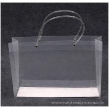 Sacos de plástico transparentes promocionais de alta qualidade, logotipo impresso de saco PP por atacado