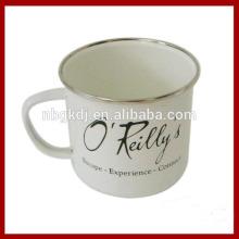 enamel mug with SS rim & fashional color