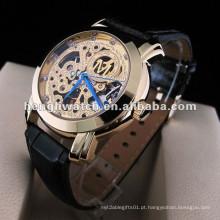 Relógio automático da forma, relógios de aço inoxidável dos homens