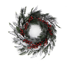 Merry christmas 20cm christmas wreath garland for decorating