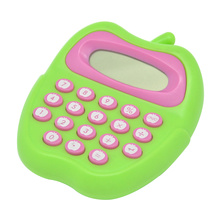 Apple Shape Cartoon Mini Handheld Calculator Kids