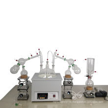 QIYU 10L 20L Glass Material Vacuum Short Path Molecular Distillation System