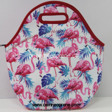 Tote do almoço do neopreno do flamingo