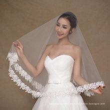 Aoliweiya Tulle una capa de velo corto de la boda para la novia