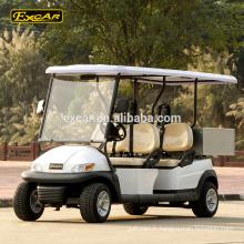 Chariot électrique de golf de 48V Trojan de voiture de golf de 4 sièges de coutume voiture de golf électrique avec la cargaison