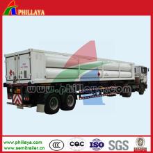CNG mittlerer 9-Rohrbündel Jumbo Zylinder Rohr Container Rückeanhänger