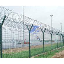 Y-förmige Sicherheit, die Flughafen-Zaun verteidigt