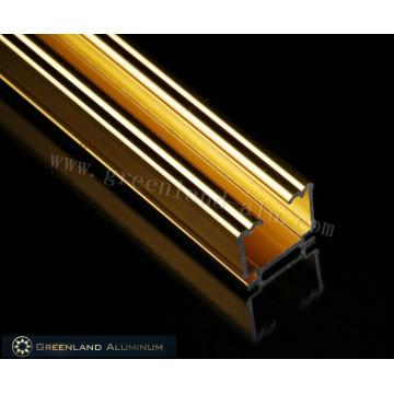Hochwertiges helles Gold-Aluminium-Fenstervorhang-Kopfschiene