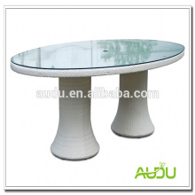 Wedding Dining Table,White Wedding Oval Dining Table With Glass