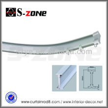 SC09 hot sale Russia PVC plastic flectional curtain rail
