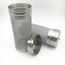 Silver Color 6 x 14 300 Micron Stainless Steel Corny Keg Filer For HomeBrew Beer