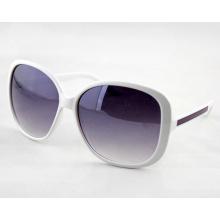 Модные женские солнцезащитные очки с градиентной линзой и большой рамой (14211)