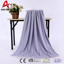 100 polyester fleece solid micromink blanket backside sherpa