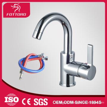 Vente chaude pull long cou bas 3 trous lavabo robinet MK23402