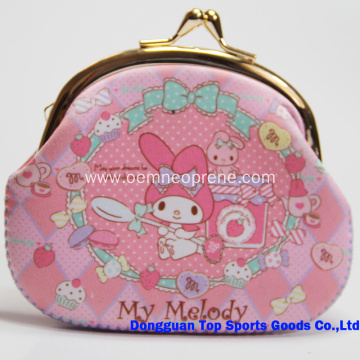 High Quality Beautiful Neoprene Coin Purse for Girls