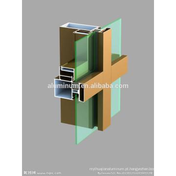 Perfil de alumínio para parede de cortina